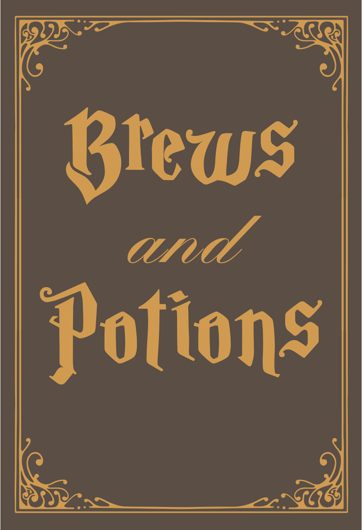Printable Halloween Potion Book