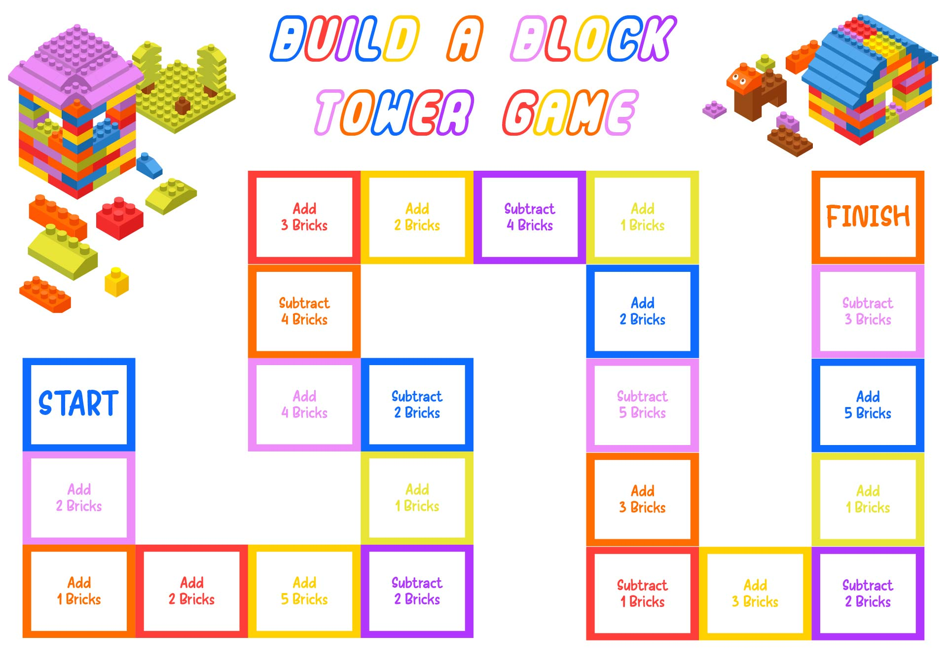 Printable LEGO Board Game