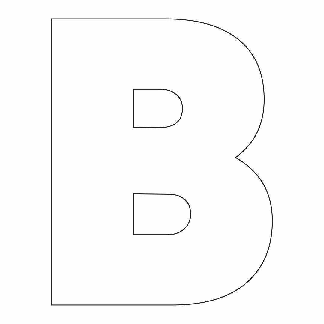 Printable Letter B Stencil