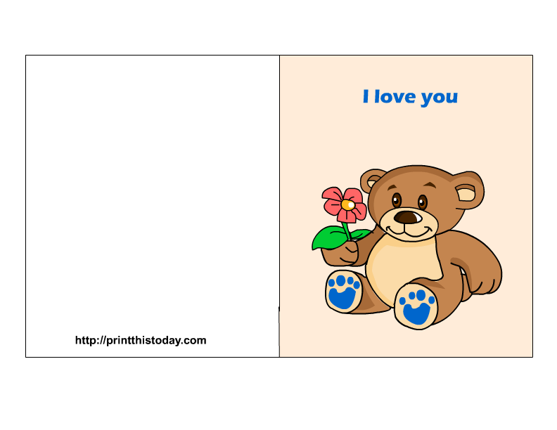 5 Images of I Love You Card Printable Free