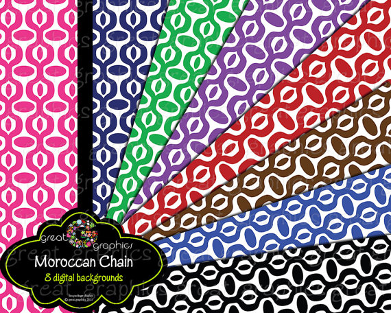 4 Images of Moroccan Printable Paper