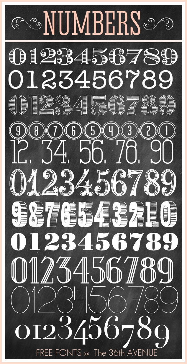 6 Images of Printable Number 7 Font