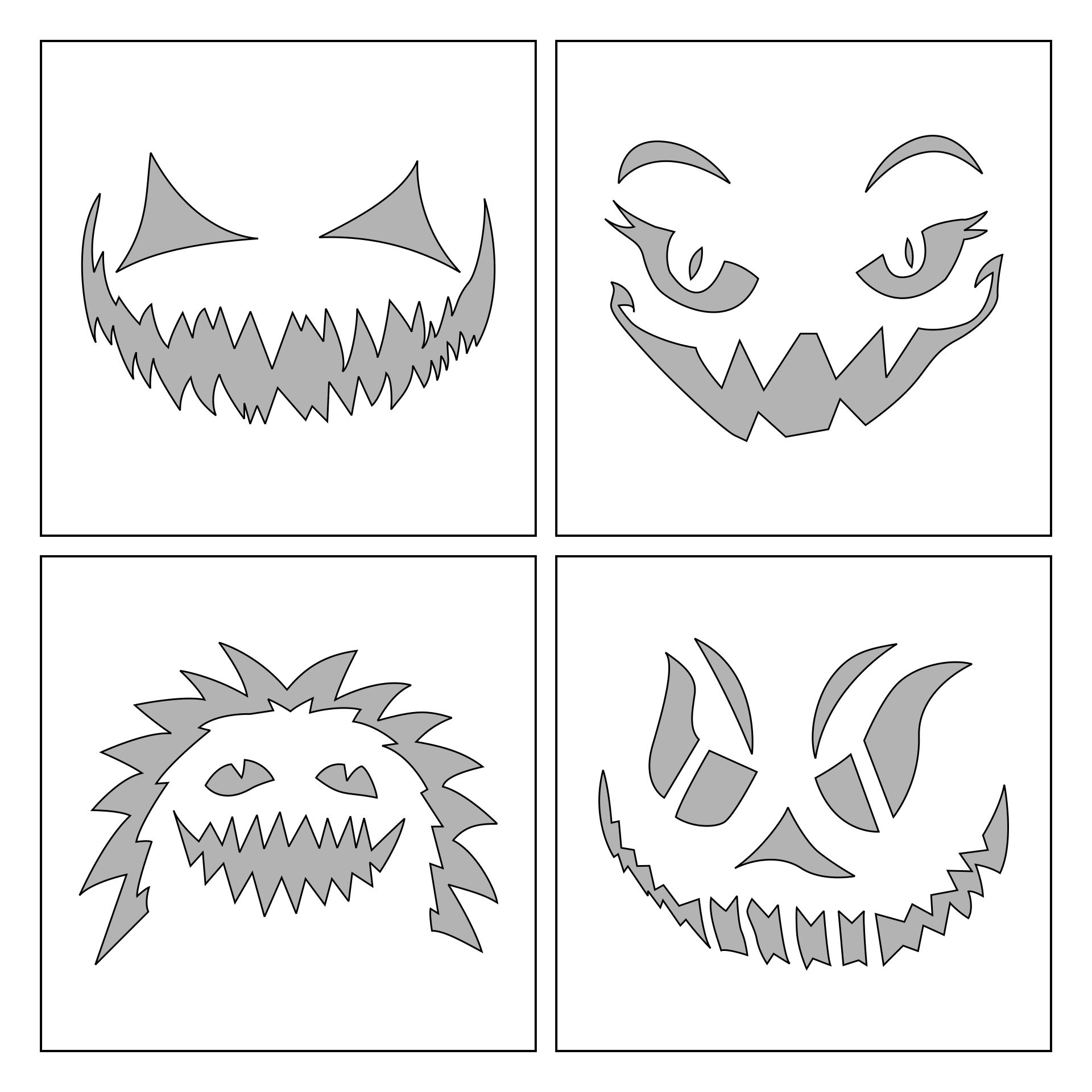 Best images of free printable halloween pumpkin stencils