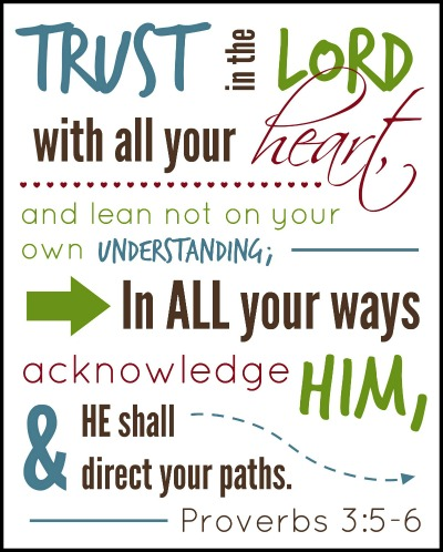 8 Best Images Of Proverbs 3 5 Scripture Printable Free