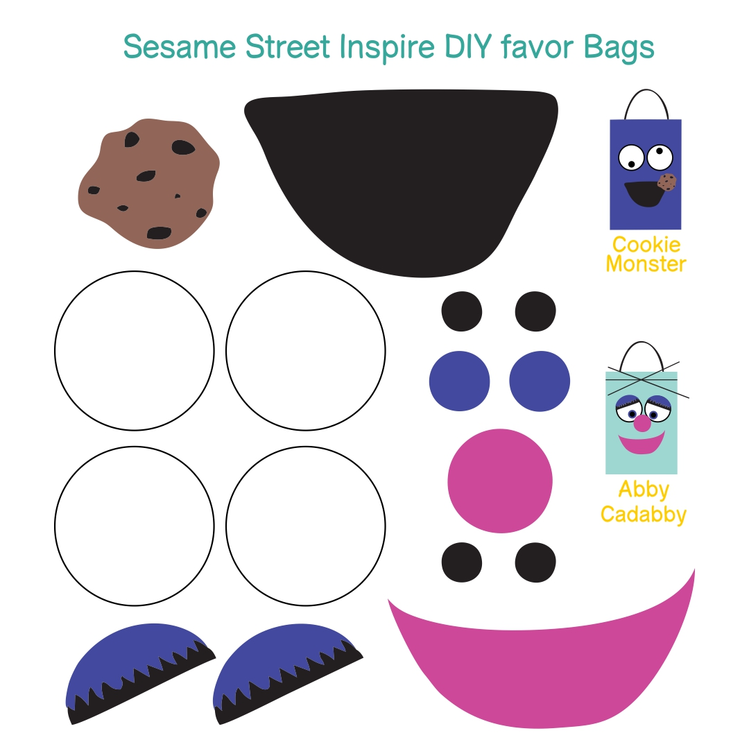 cut out character template - 7 best images of sesame street face templates printable