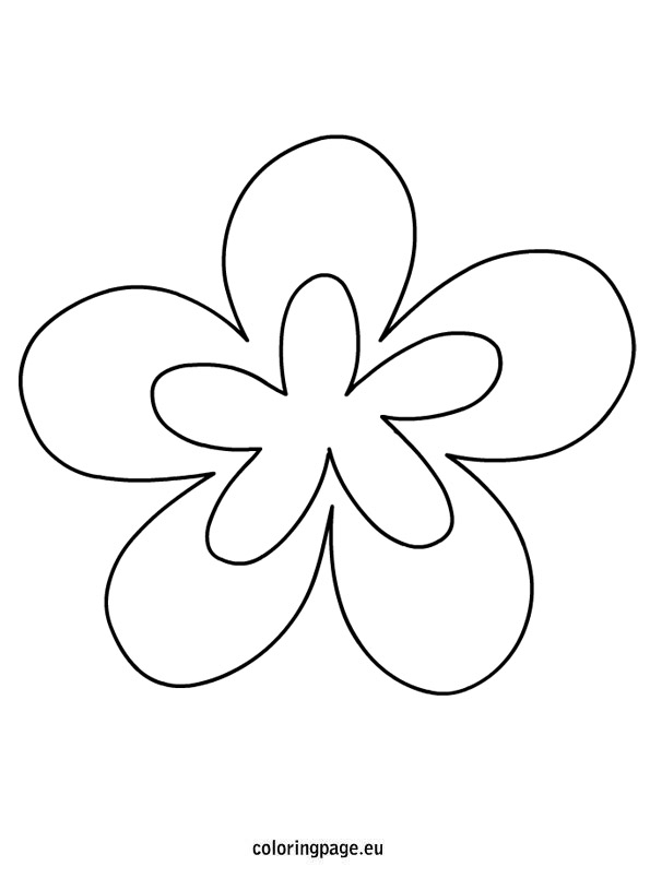 Printable Shape Coloring Pages Flowers