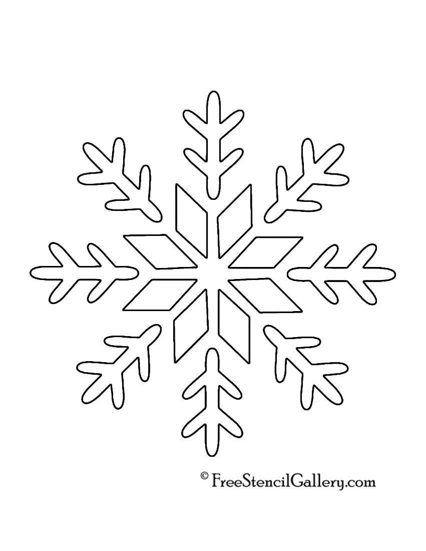 9 Images of Snowflake Printable Stencils