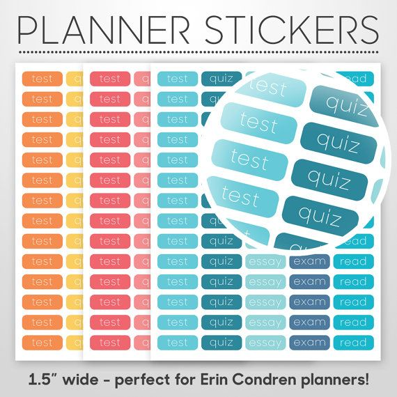 Printable Student Planner Stickers