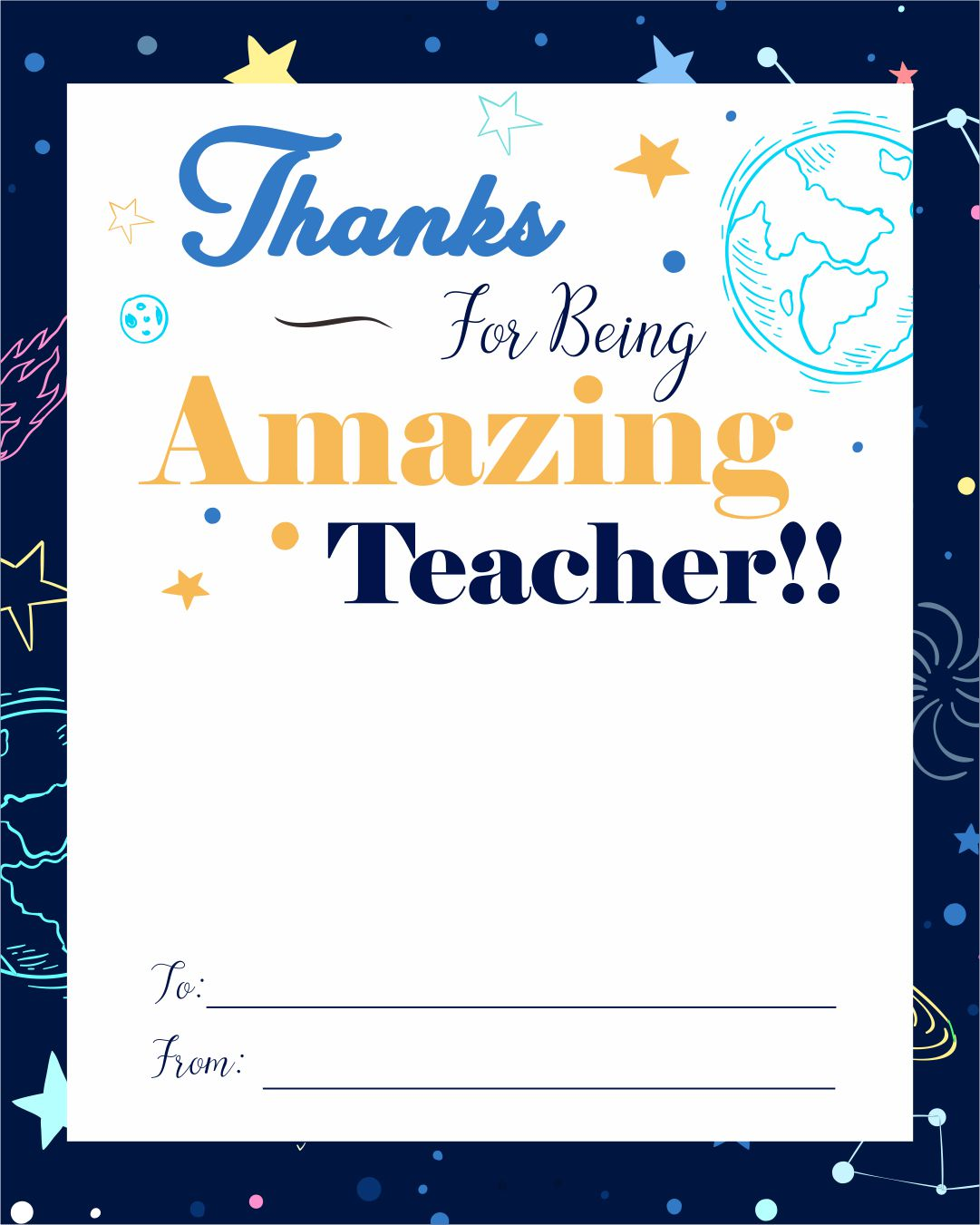 Printable Teacher Appreciation Gift Card Holders