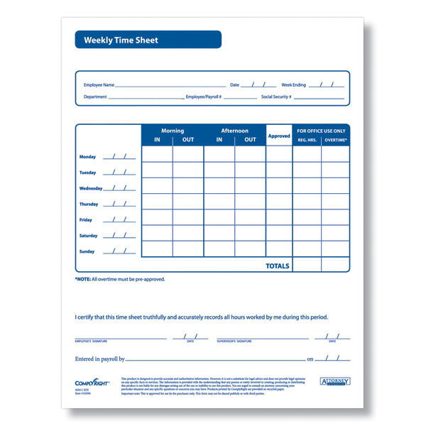 7 Images of Simple Printable Time Sheets