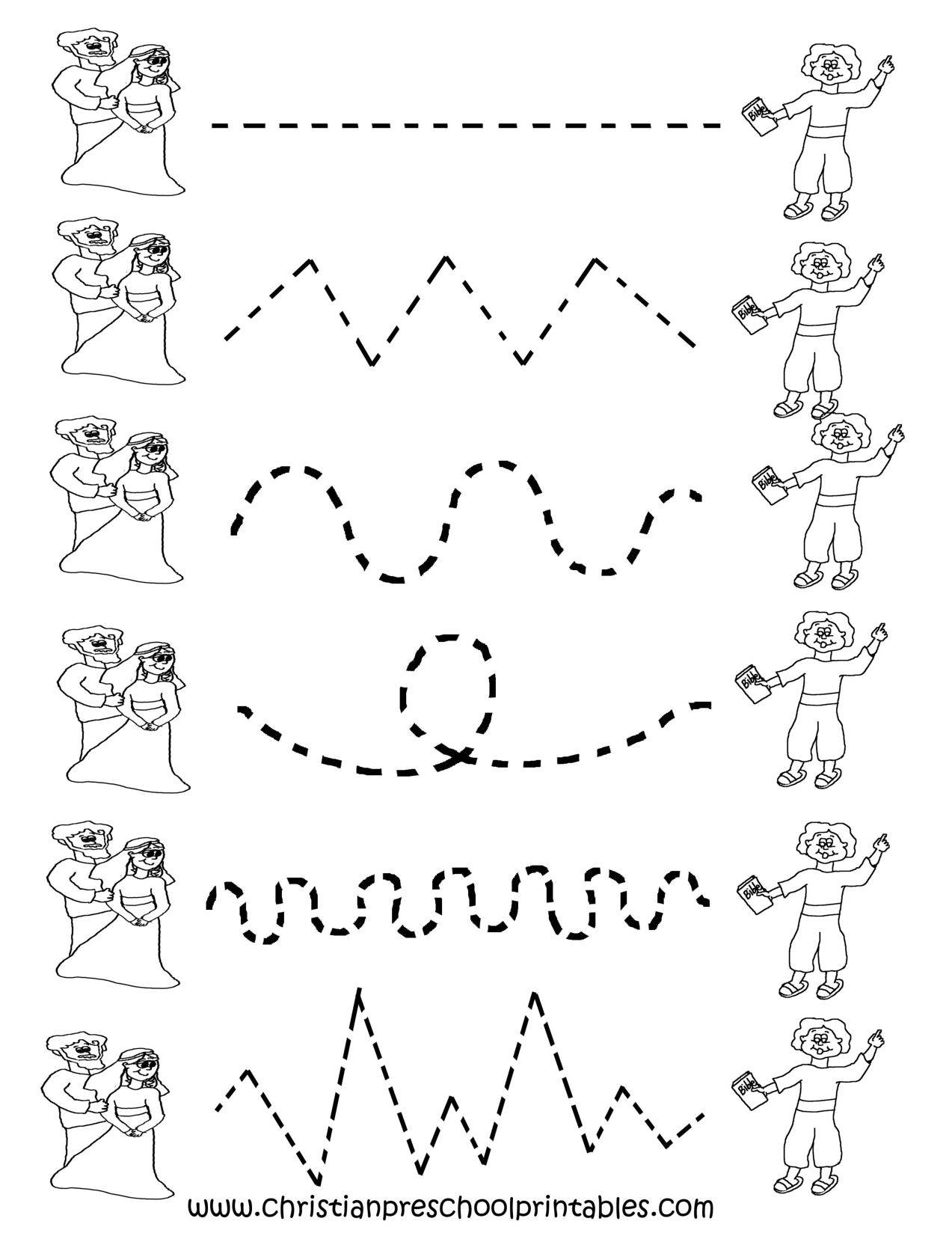 Printable Tracing Worksheets Preschool