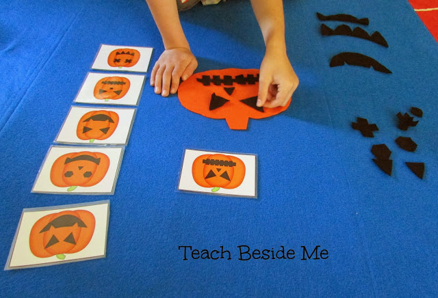 6 Images of Printable Pumpkin Face Matching Game
