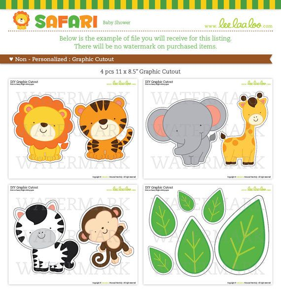 Shower Labels amp Free Printable Jungle Animal Baby Invitations