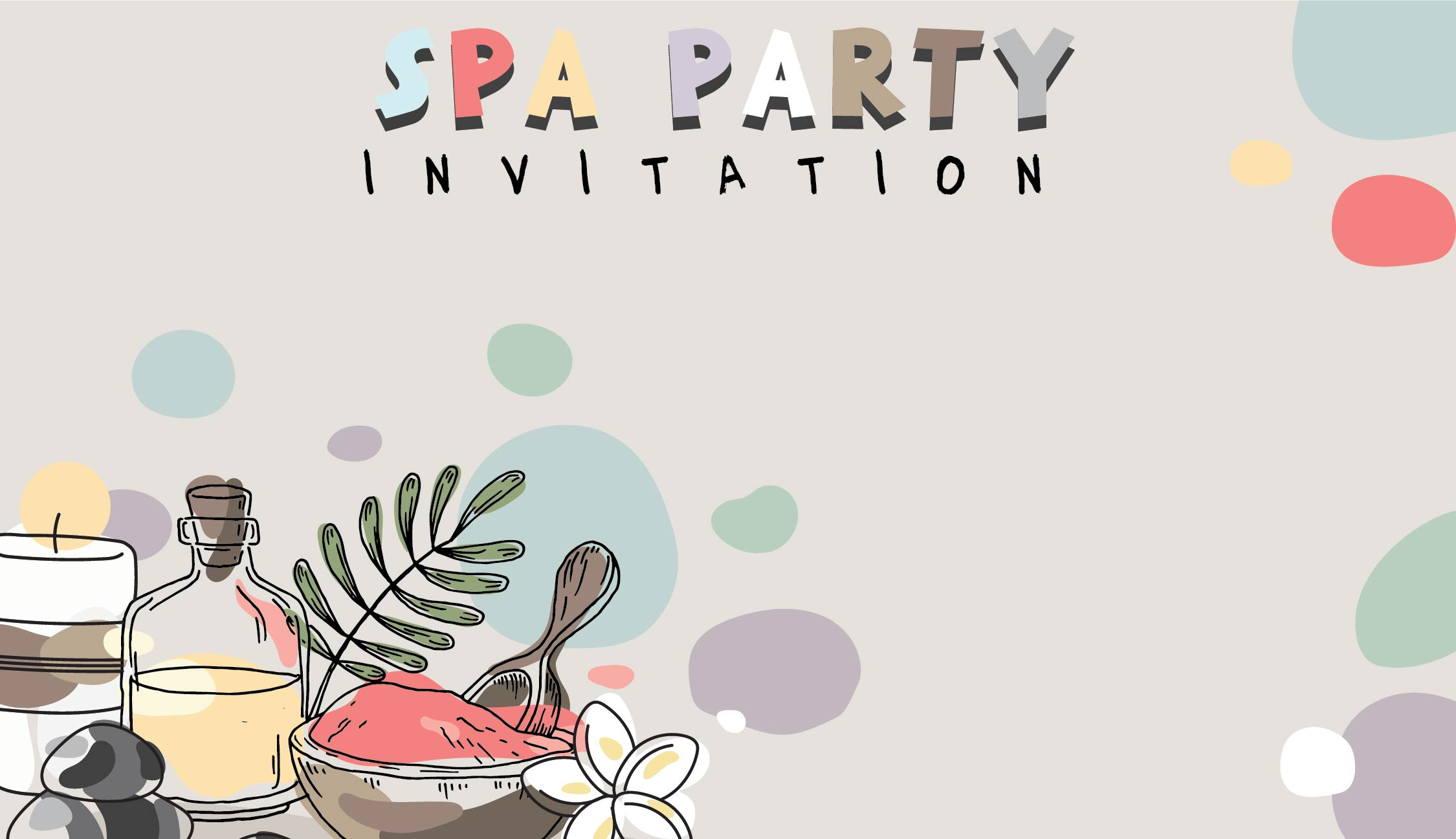 Spa Party Printables Free