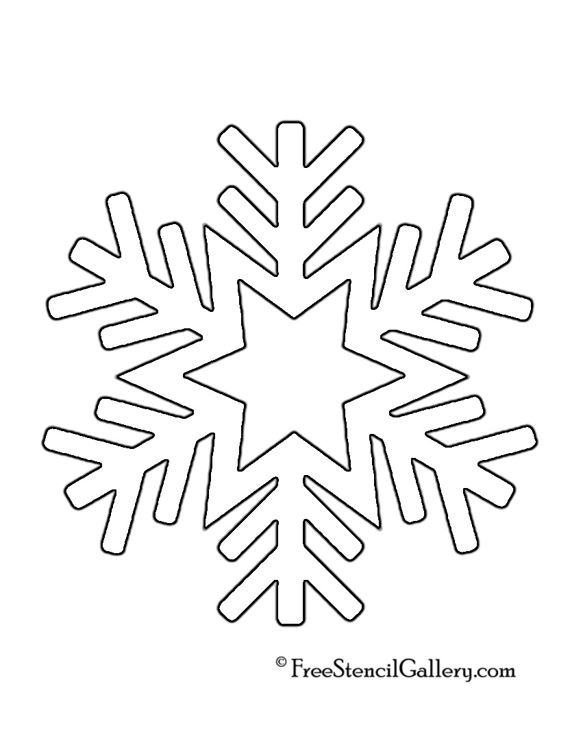 snowflake method template - 9 best images of snowflake printable stencils printable