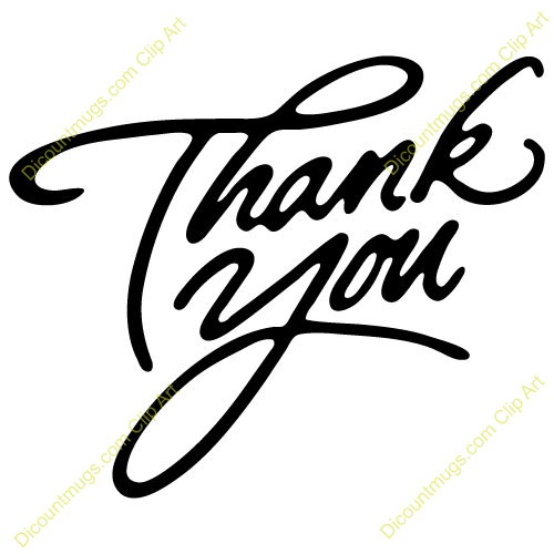 9 Images of Free Printable Thank You Clip Art