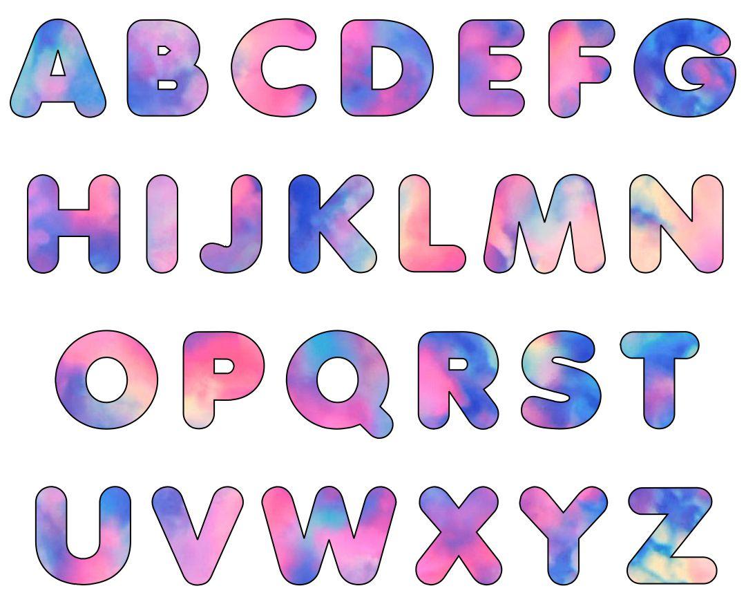 Tie Dye Bubble Letters