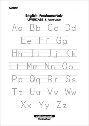 Number Names Worksheets uppercase letter tracing worksheets : 8 Best Images of Printable Alphabet Worksheets Uppercase Lowercase ...
