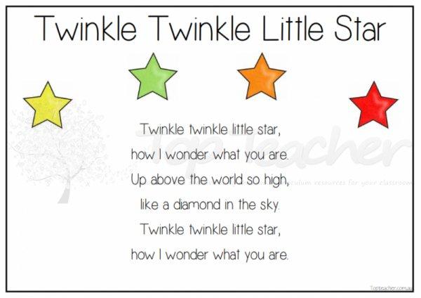 Twinkle Twinkle Little Star Poem