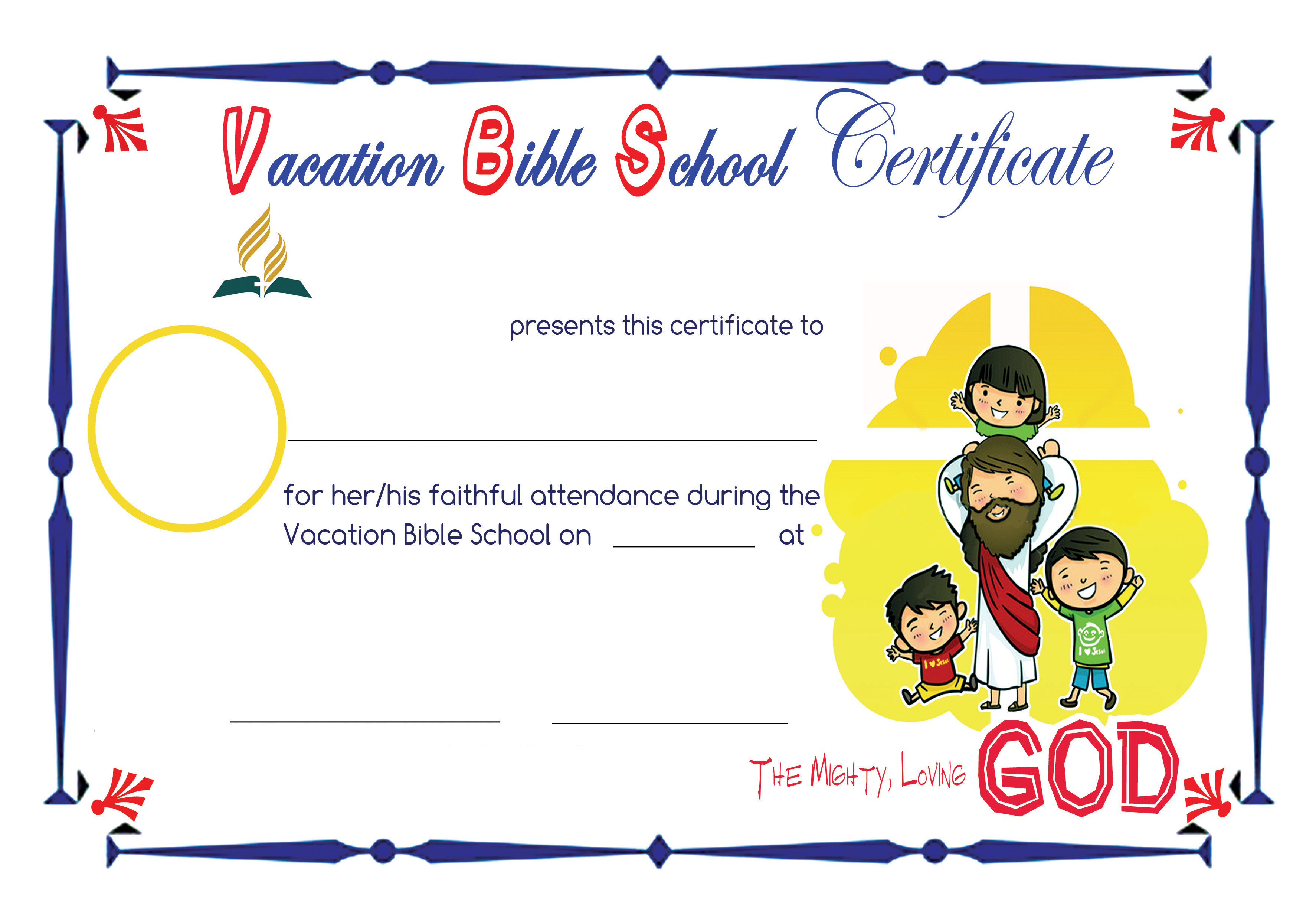6 best images of printable vbs certificates vacation