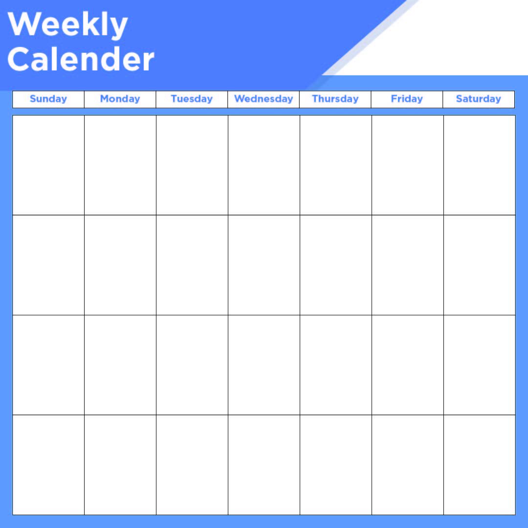 2 Week Printable Calendar Weekly with Time