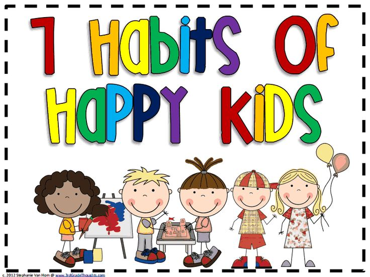 7 Habits of Happy Kids Posters Free