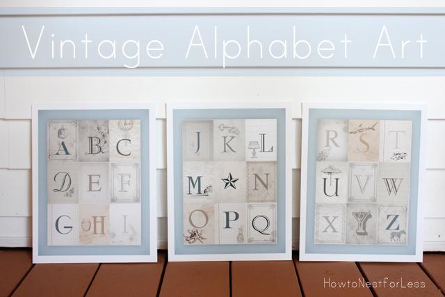 Alphabet Nursery Wall Art Printables Free