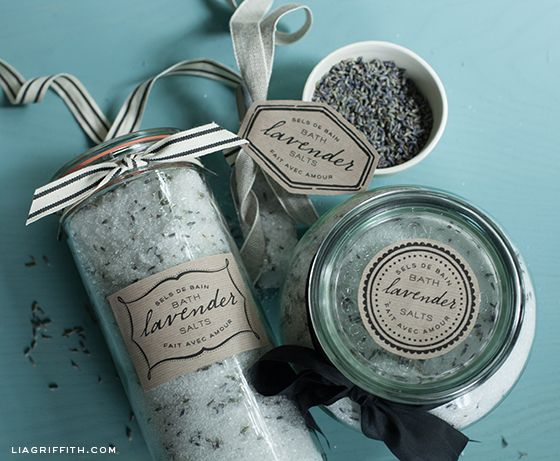 4 Images of Lavender Bath Salt Labels Printable Free