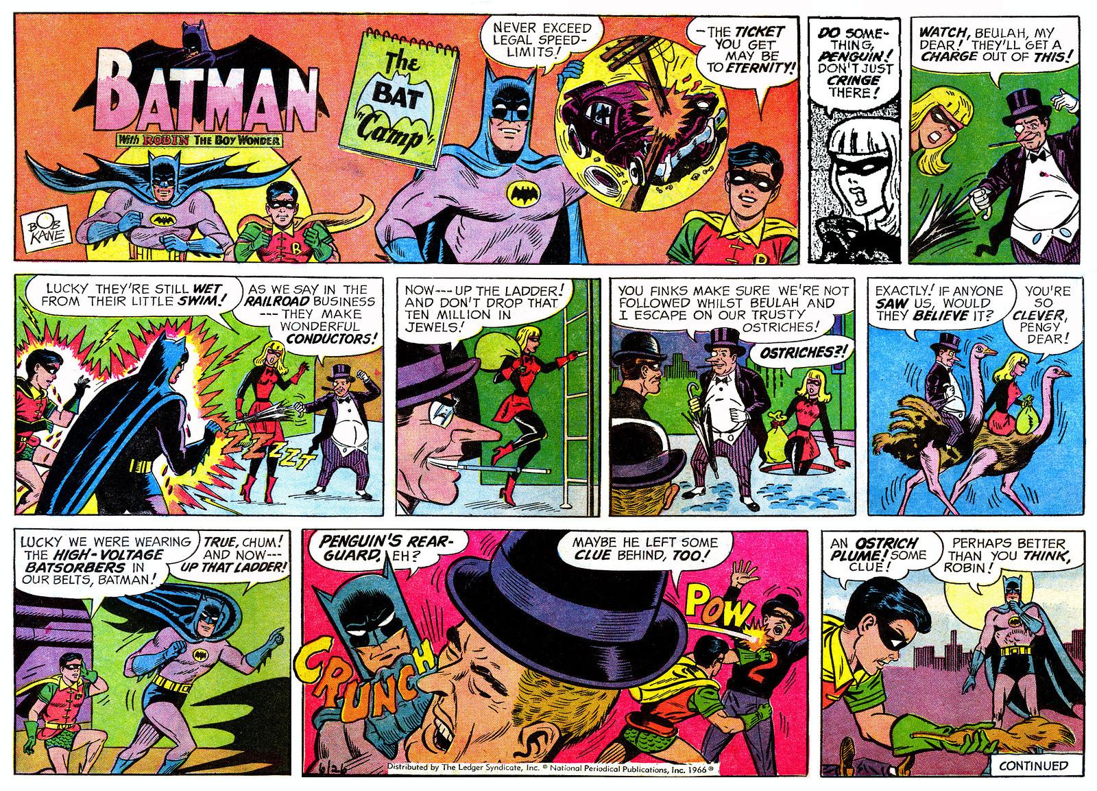 Batman Comic Book Strip