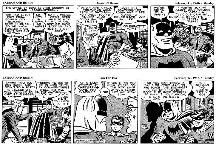 Batman Newspaper Comic Strip