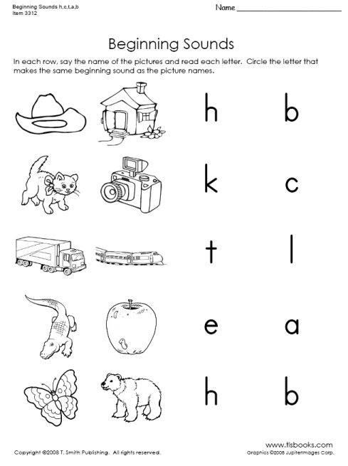 5 Best Images Of Beginning Sounds Printables Free