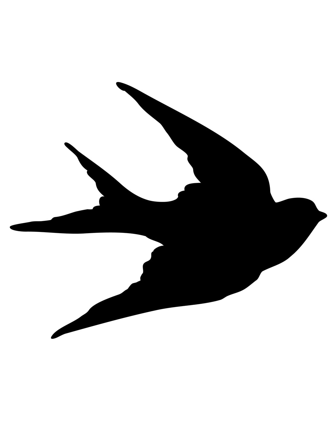 6 Images of Flying Bird Silhouette Printable