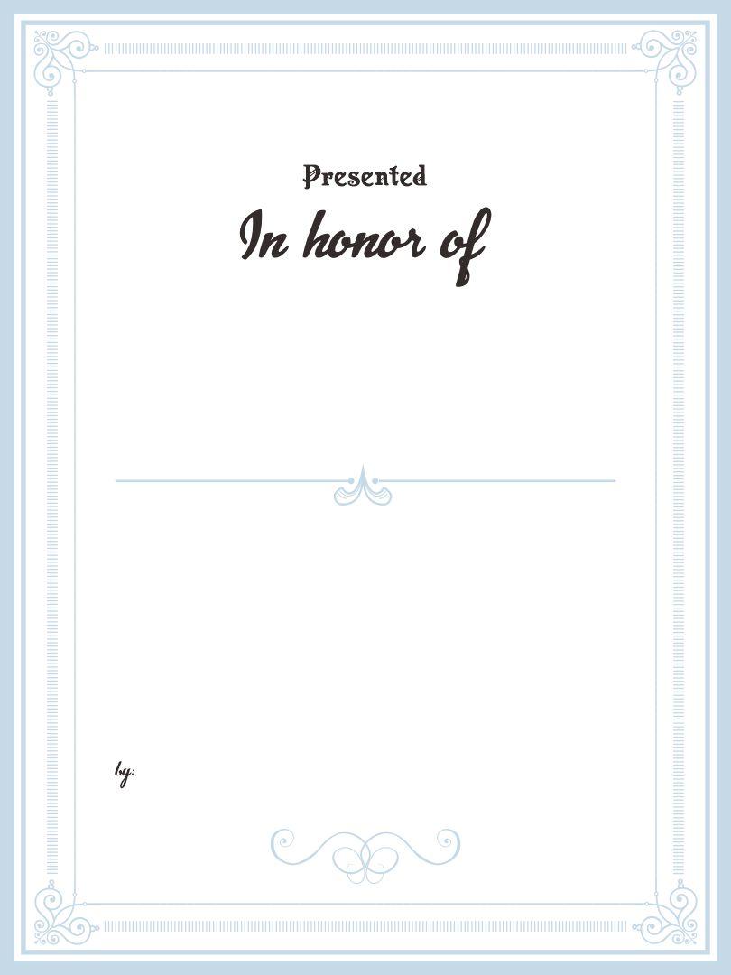 Bookplate Templates Printable
