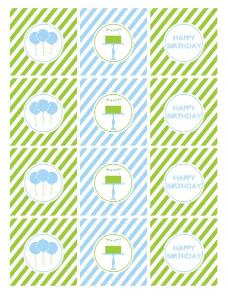 Boy Birthday Printables Free
