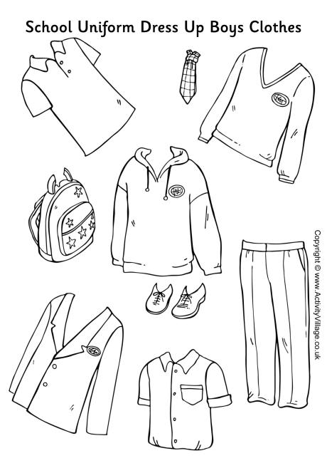 4 Images of Printable Cut Out Clothes