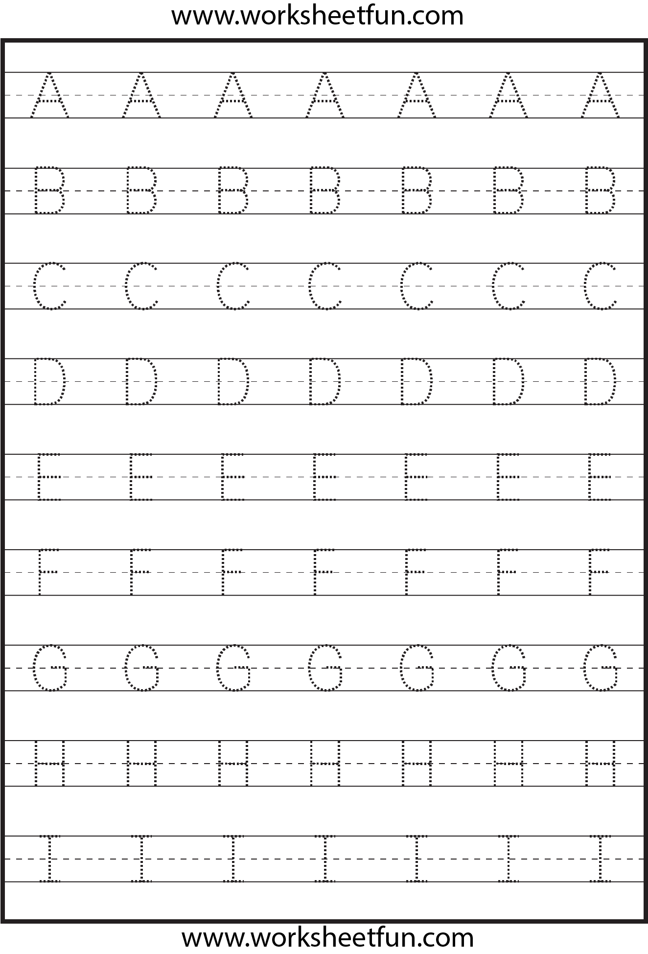 Worksheets Alphabet Tracing A  Z 8 best images of tracing letters a z printables printable capital letter worksheet