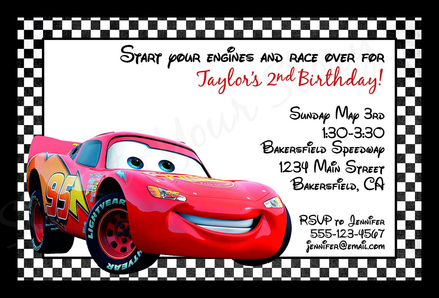 7 Best Images of Cars Party Invitations Free Printable - Free Printable Cars Birthday Party ...