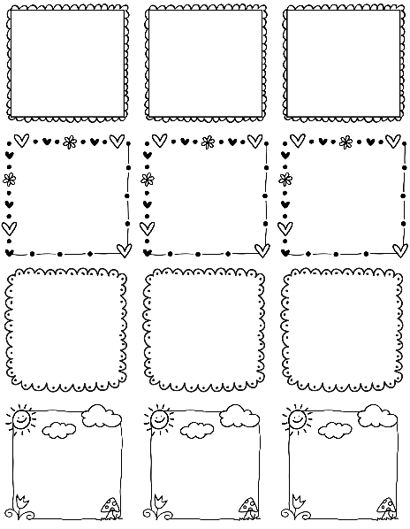 5 Images of Free Printable Label Borders