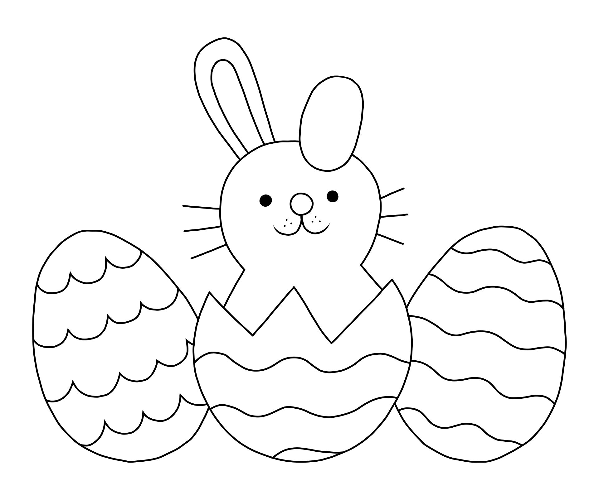 4 Images of Happy Easter Coloring Pages Printable Free