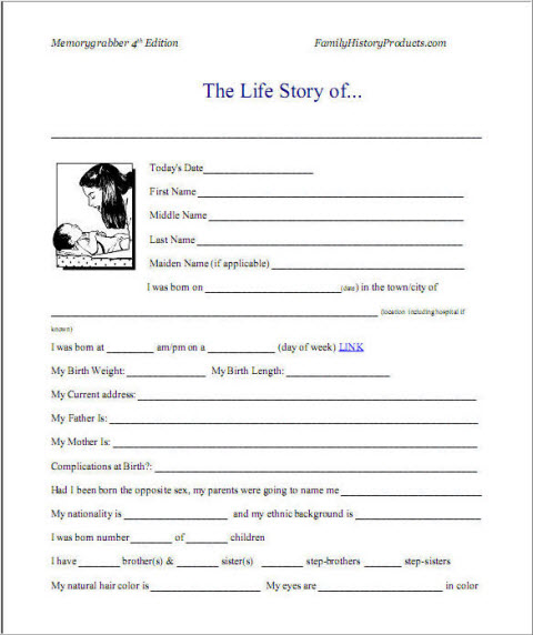 7 best images of printable autobiography template bio for Sample biography template for students