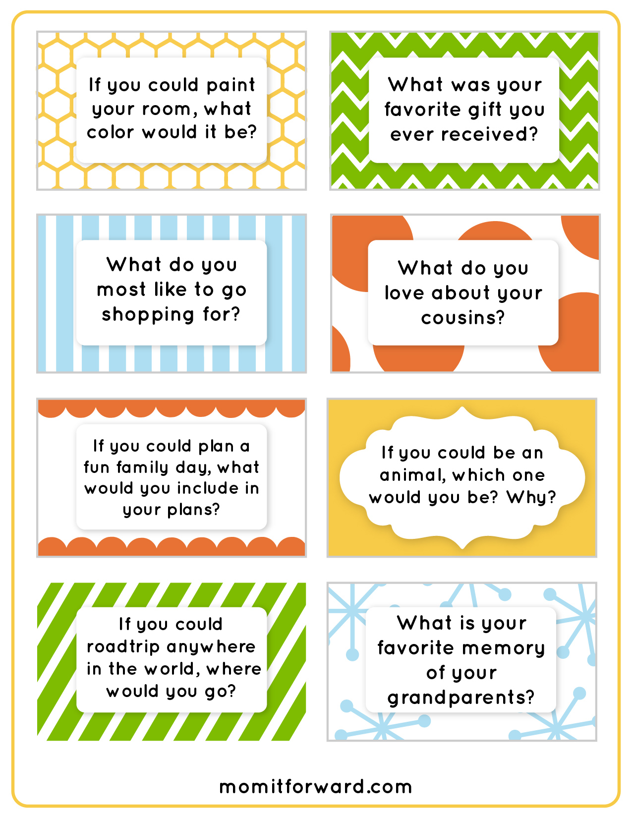 8 Images of Printable Family Discussion