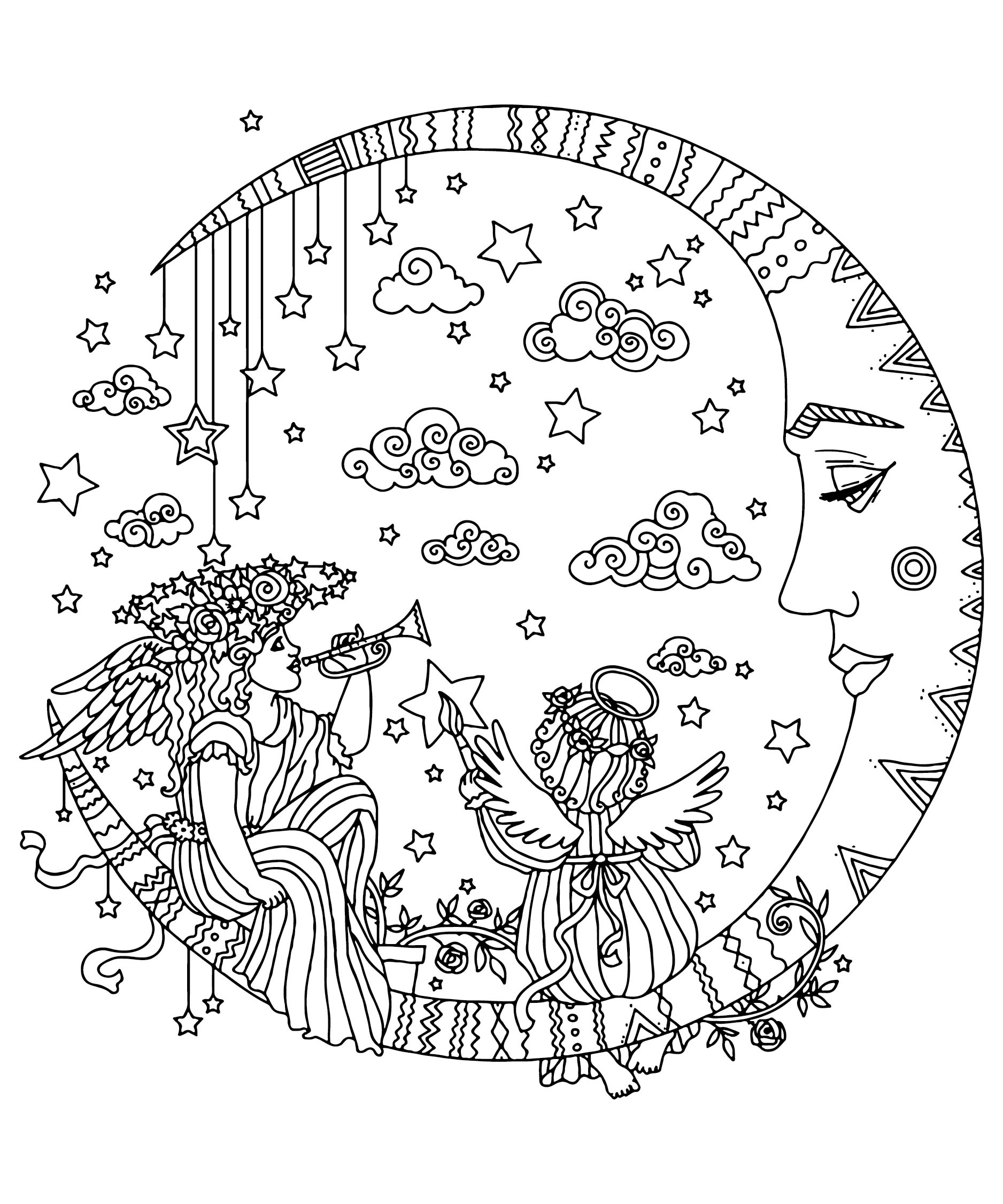 Advanced Christmas Coloring Pages