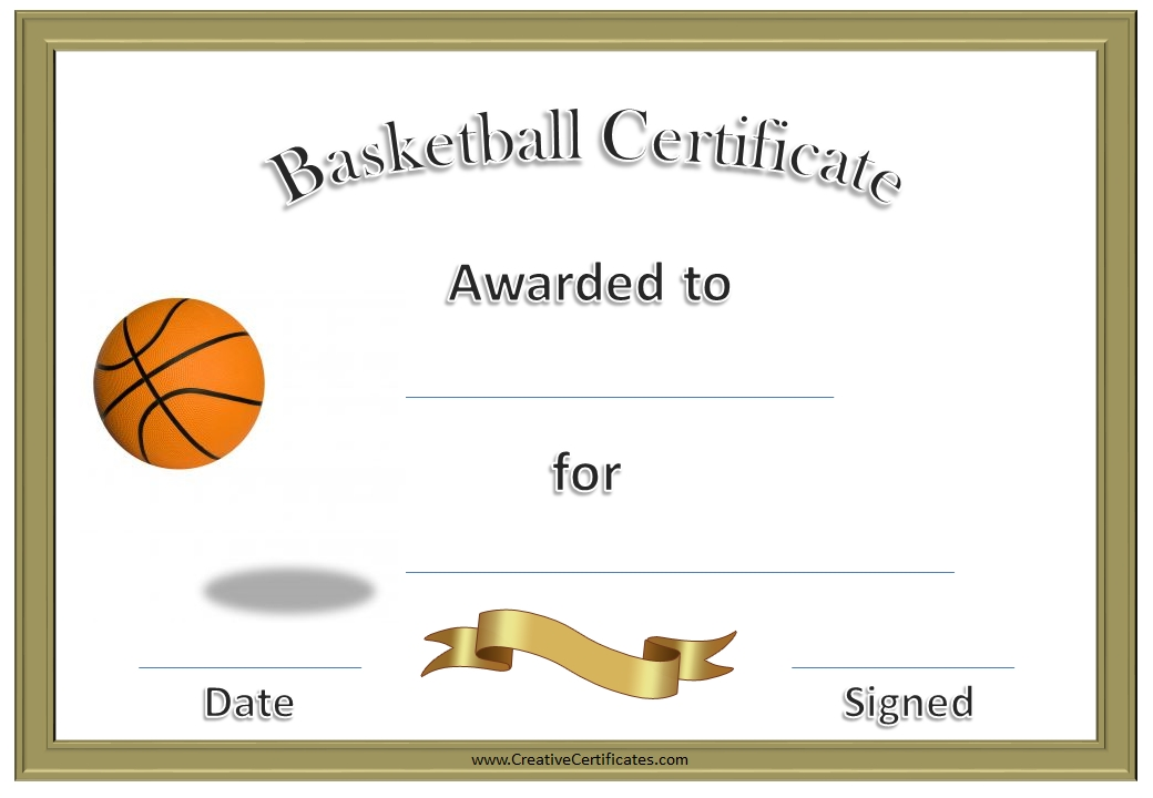 free award certificates templates to download - 7 best images of free printable basketball certificates