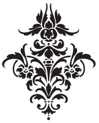 4 Images of Damask Stencil Pattern Printable