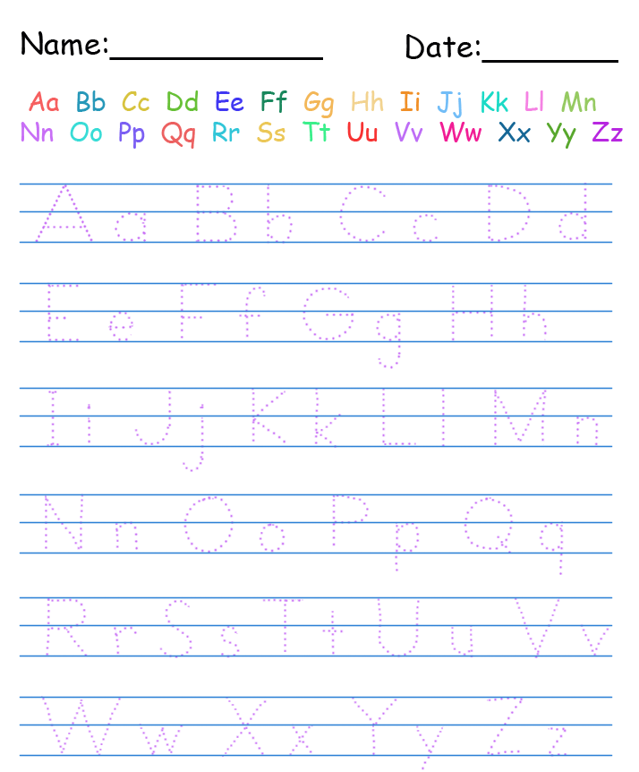 Free Abc Writing Worksheets Scalien – Free Abc Worksheets for Kindergarten
