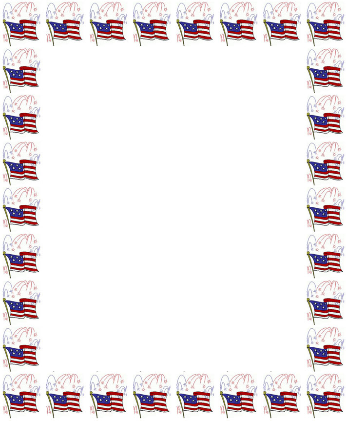 8 Images of Free Printable US Flag Borders