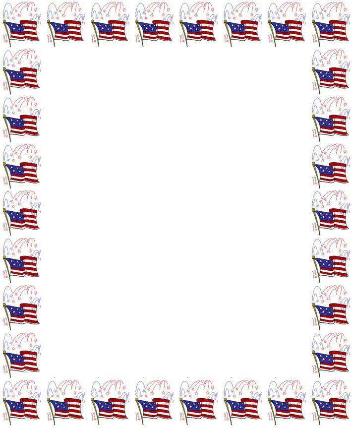 8 Images of Free Printable US Flag Borders
