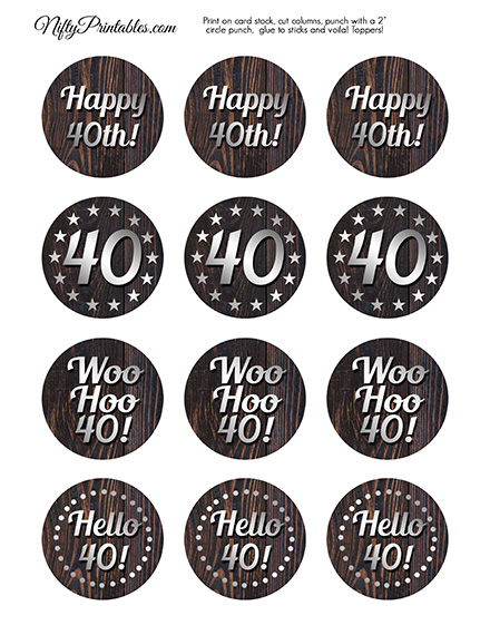 Free Printable 50th Birthday Tags