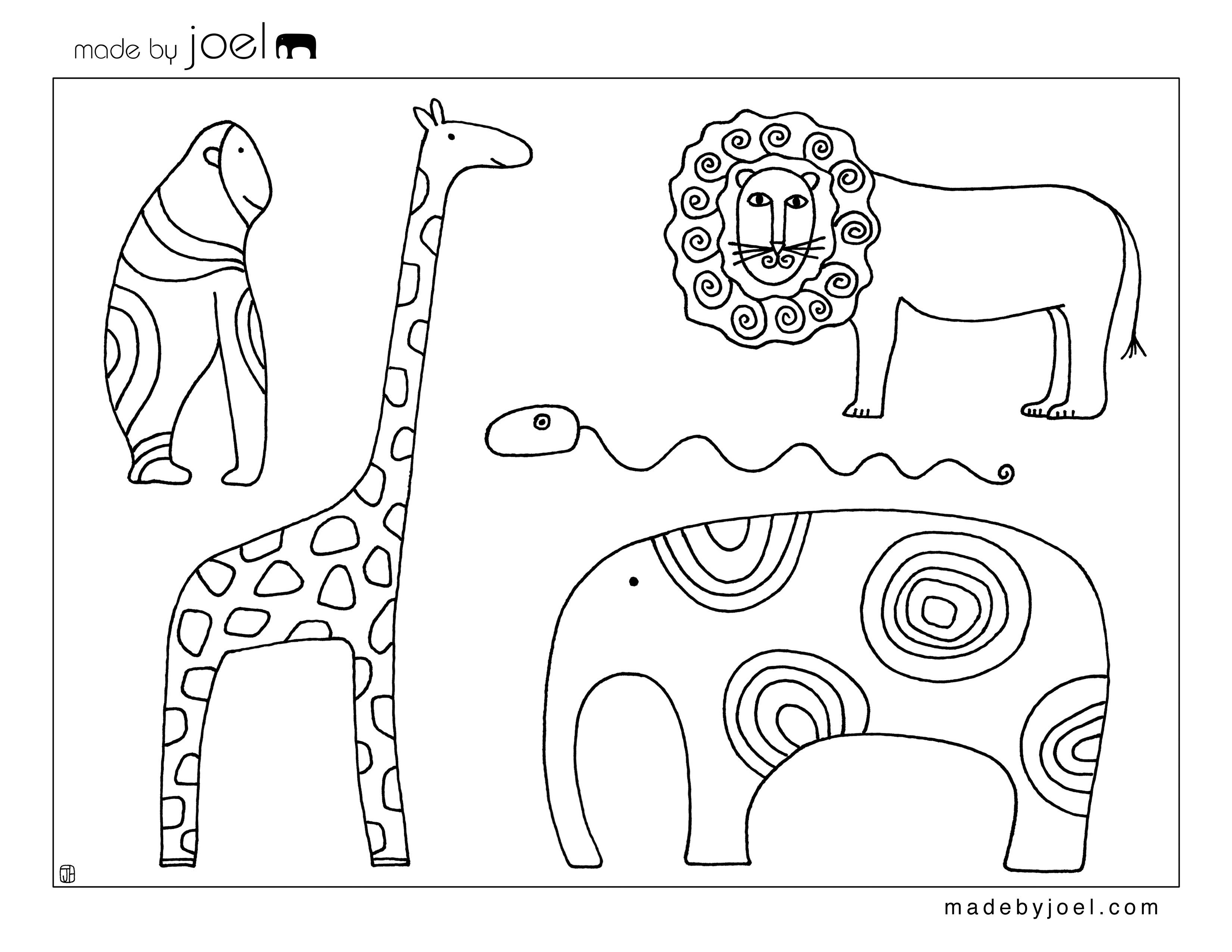 6 Images of Printable Animal Templates