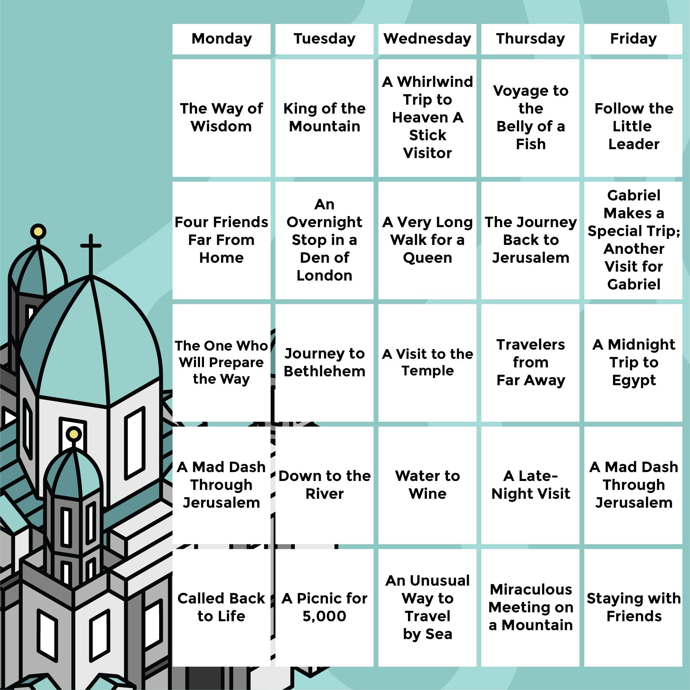 Printable Bible Reading Chart